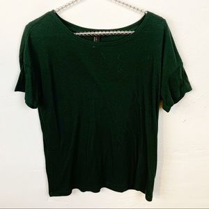 Forever 21 l Green Ribbed Short Sleeve Top